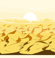 desert dunes egyptian landscape background sand vector image