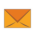 email envelope symbol isolated blue lines vector image vector image