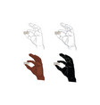 finger signal hand signal vector image vector image