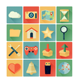 flat icons web vector image