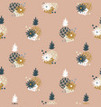 floral pineapple fabric wallpaper seamless vector image vector image