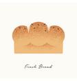 fresh bread food concept vector image