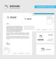 fuel station business letterhead envelope and vector image vector image