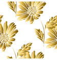 golden seamless pattern vector image