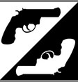 gun black and white vector image