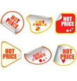 hot price button stickers vector image vector image