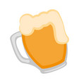 isolated beer mug icon vector image