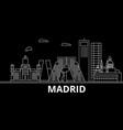 madrid silhouette skyline spain - madrid vector image vector image