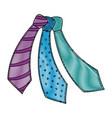 male ties set vector image vector image