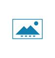 monochrome image linear icon concept monochrome vector image vector image