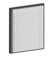 note book paper Notepad 3D vector image vector image