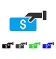 pay flat icon vector image vector image