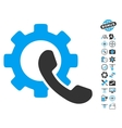 Phone Configuration Icon With Air Drone Tools vector image vector image