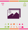 pictures symbol icon vector image