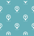 pizza map pointer pattern seamless blue vector image
