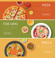 popular food web banner flat design vector image vector image