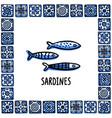 portugal landmarks set fresh shellfish vector image vector image