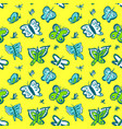 seamless pattern with cute butterflies background vector image vector image