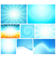 set of abstract background blue color - shiny vector image vector image
