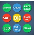 Set of bussiness sale promotion signs vector image