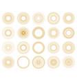set sunburst design elements gold color vector image vector image