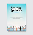 summer love people relax hands up landscape beach vector image vector image