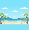 summer sea beach landscape background vector image