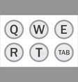 typewriter keys qwert vector image
