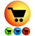 vivid shopping cart trolley cart icons vector image