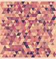 warm triangular mosaic pattern for banner design vector image vector image