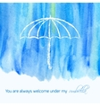 Watercolor card with text vector image vector image