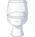 White Shiny Toilet vector image