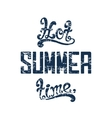 Hot summer time vector image
