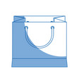 paper gift bag shopping merchandise vector image