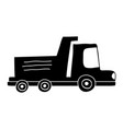 silhouette dump truck industry and contruccion vector image