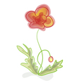 A flower imitation of childrens drawings vector image