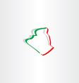 algeria map icon design vector image vector image