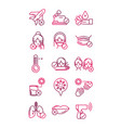 avoid and prevent spread covid19 icons set vector image vector image