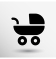 baby stroller icon maternity wheel born pram vector image