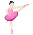 Ballerina posing vector image vector image