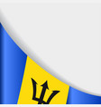 barbados flag background vector image vector image