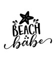 beach babe - funny typography with starfish