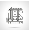 Beach bungalow flat line icon vector image