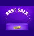 best sale banner template vector image vector image