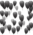 black balloons with discount vector image vector image