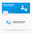 blue business logo template for insurance family vector image