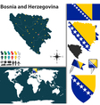 Bosnia and Herzegovina map vector image vector image