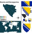 Bosnia and Herzegovina map vector image