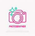 camera thin line icon photographer equipment vector image vector image