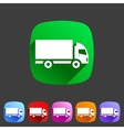 cargo truck flat icon web sign symbol logo label vector image vector image